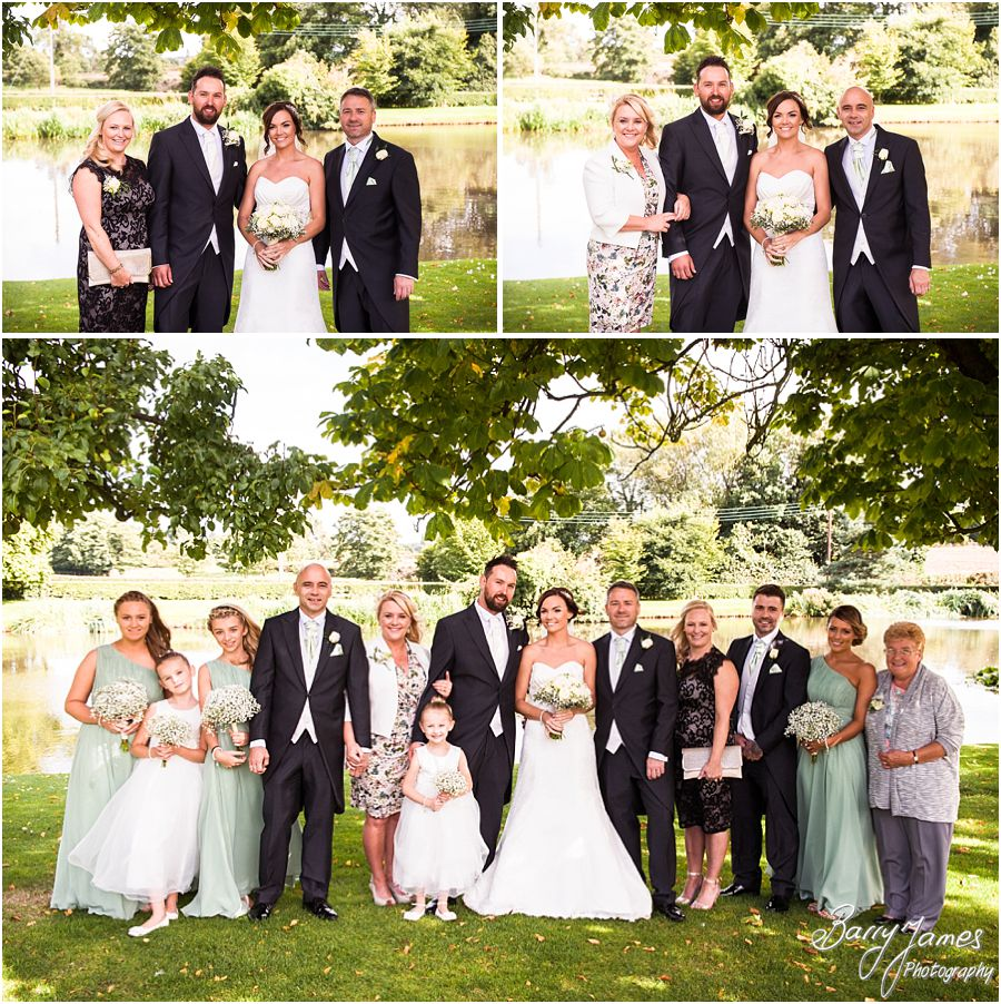 Contemporary family portraits on the bank of the lake at The Moat House in Acton Trussell by West Midlands Wedding Photographer Barry James