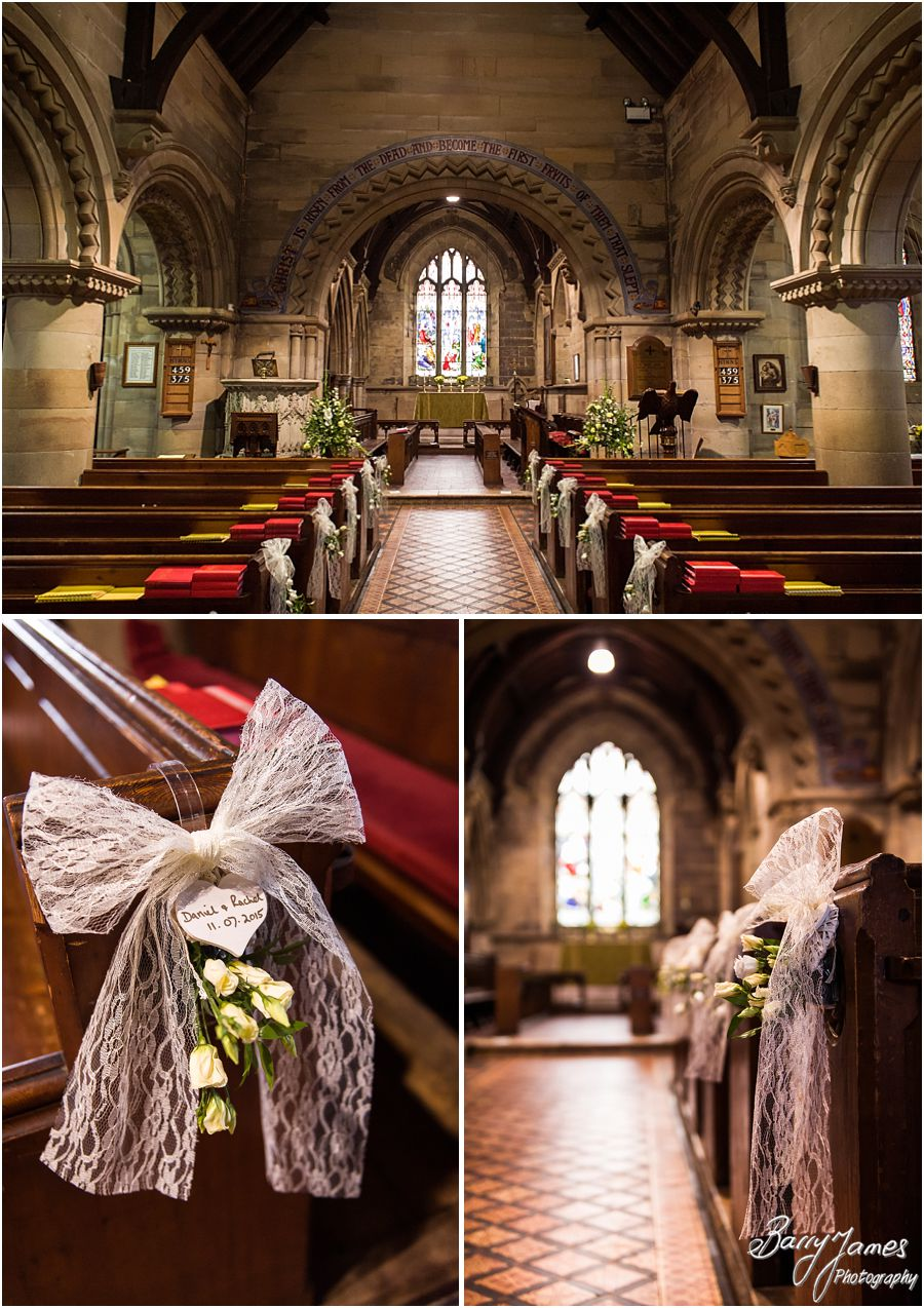 Wedding photographs at St John the Baptist in Armitage by Rugeley Wedding Photographer Barry James