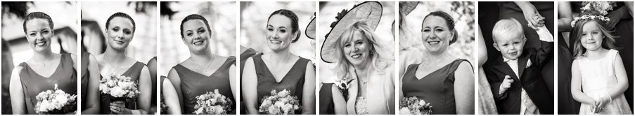 Relaxed photographs of the bridal party at St John the Baptist in Armitage by Rugeley Wedding Photographer Barry James
