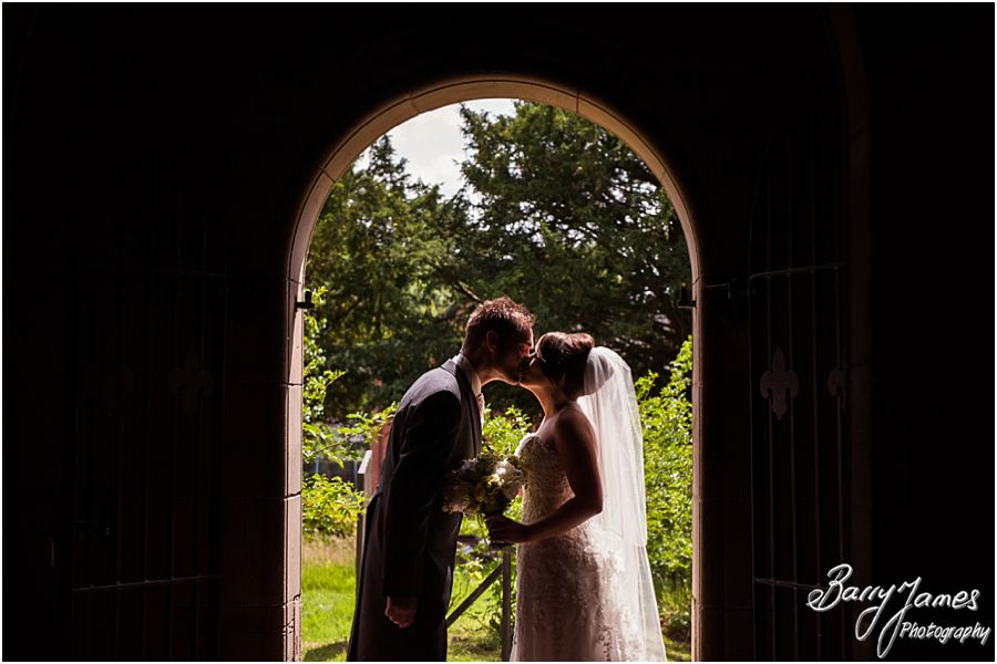 Beautiful wedding portrait at St John the Baptist in Armitage by Rugeley Wedding Photographer Barry James