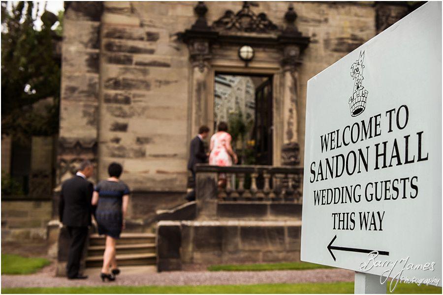 Wedding photos at Sandon Hall in Staffordshire by Stafford Wedding Photographer Barry James