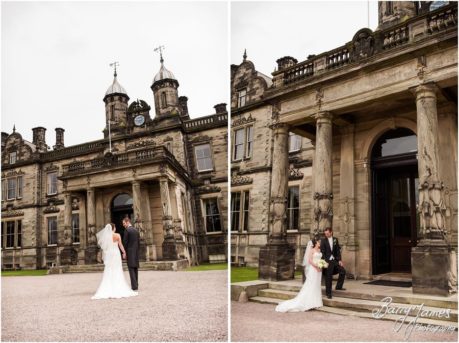Beautiful timeless photographs with the stunning backdrop of Sandon Hall in Staffordshire by Recommended Wedding Photographer Barry James