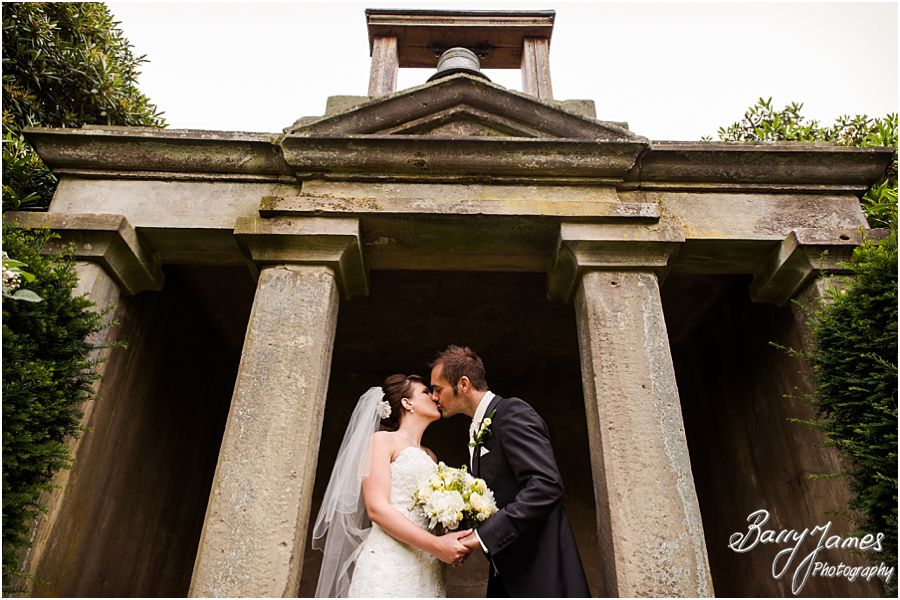 Natural and elegant bridal portraits at Sandon Hall in Staffordshire by Recommended Wedding Photographer Barry James