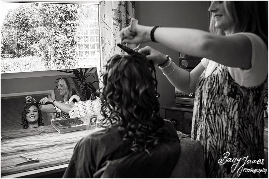 Reportage photos of the bridal preparations at Parents Home in Barton under Needwood by Barton Under Needwood Wedding Photographer Barry James