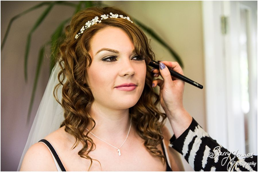 Capturing the bridal preparations in Parents Home in Barton under Needwood by Barton Under Needwood Wedding Photographer Barry James