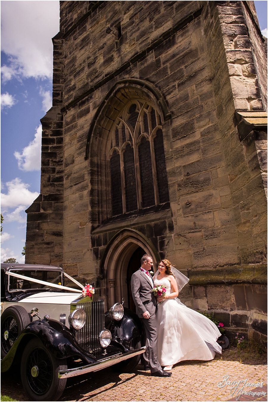 Unobtrusive natural photographs at St James Church in Barton under Needwood by Barton Under Needwood Wedding Photographer Barry James