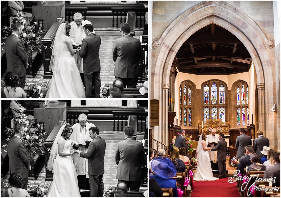 Capturing the beautiful wedding ceremony at St James Church in Barton under Needwood by Barton Under Needwood Wedding Photographer Barry James