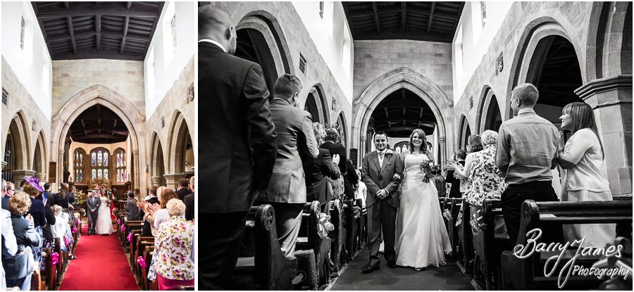 Natural photographs of the beautiful ceremony at St James Church in Barton under Needwood by Barton Under Needwood Wedding Photographer Barry James