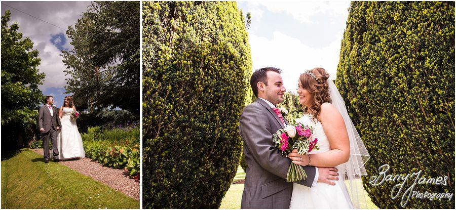 Creative wedding photographs at Packington Moor in Lichfield by Lichfield Wedding Photographer Barry James