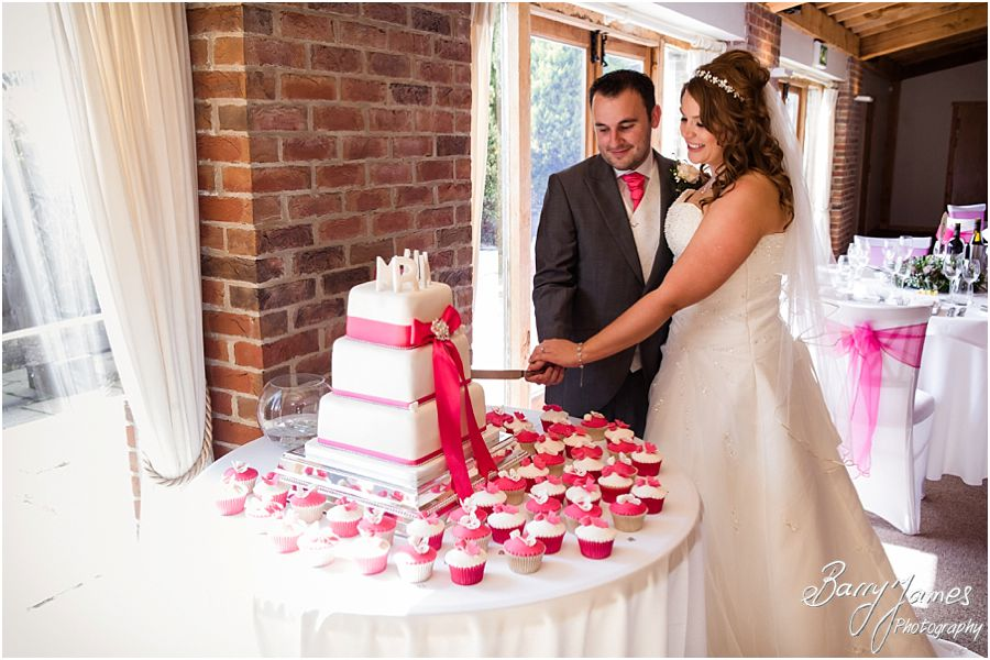 Beautiful venue decor for the wedding breakfast at Packington Moor in Lichfield by Lichfield Wedding Photographer Barry James