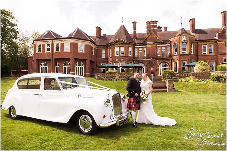 Beautiful traditional wedding photographs of luxury wedding transport for wedding at Moor Hall in Sutton Coldfield by Sutton Coldfield Wedding Photographer Barry James