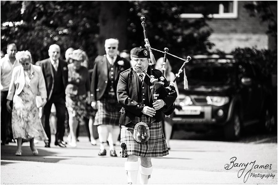 Fabulous scottish piper for wedding at Moor Hall in Sutton Coldfield by Sutton Coldfield Wedding Photographer Barry James