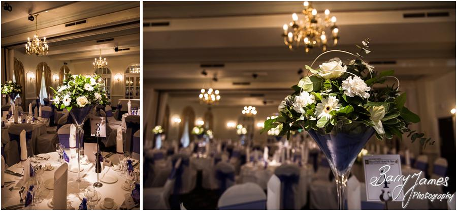Beautiful styling for the wedding breakfast at Moor Hall in Sutton Coldfield by Sutton Coldfield Wedding Photographer Barry James