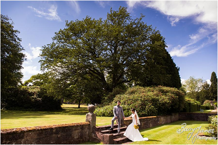 Creative wedding photographs at Sandon Hall in Stafford by Stafford Wedding Photographer Barry James
