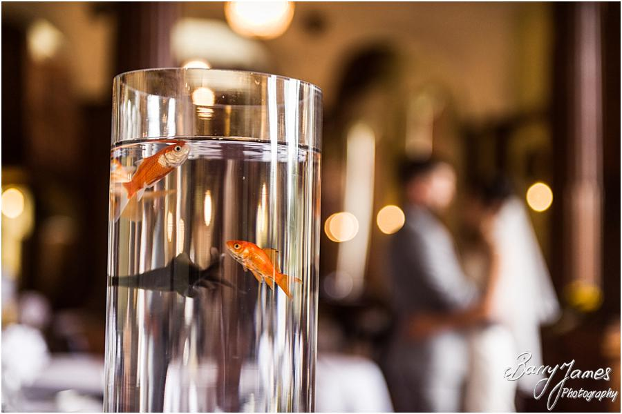 Beautiful detailing for the wedding breakfast at Sandon Hall in Stafford by Stafford Wedding Photographer Barry James