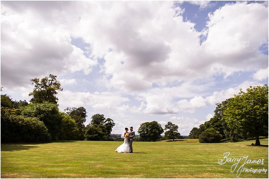 Creative portraits utilising the beautiful countrywide setting of Sandon Hall in Stafford by Stafford Wedding Photographer Barry James