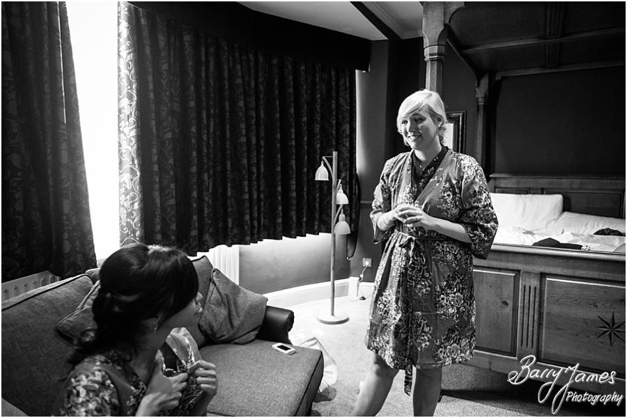 Candid photographs of the bridal preparations ahead of the wedding at Sandon Hall in Stafford by Stafford Wedding Photographer Barry James