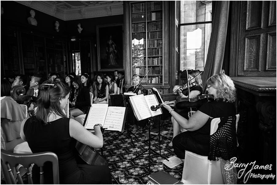 Fabulous string quartet at Sandon Hall in Stafford by Stafford Wedding Photographer Barry James