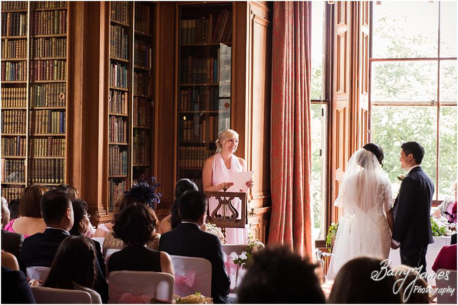 Unobtrusive photographs capture the wonderful wedding ceremony at Sandon Hall in Stafford by Stafford Wedding Photographer Barry James