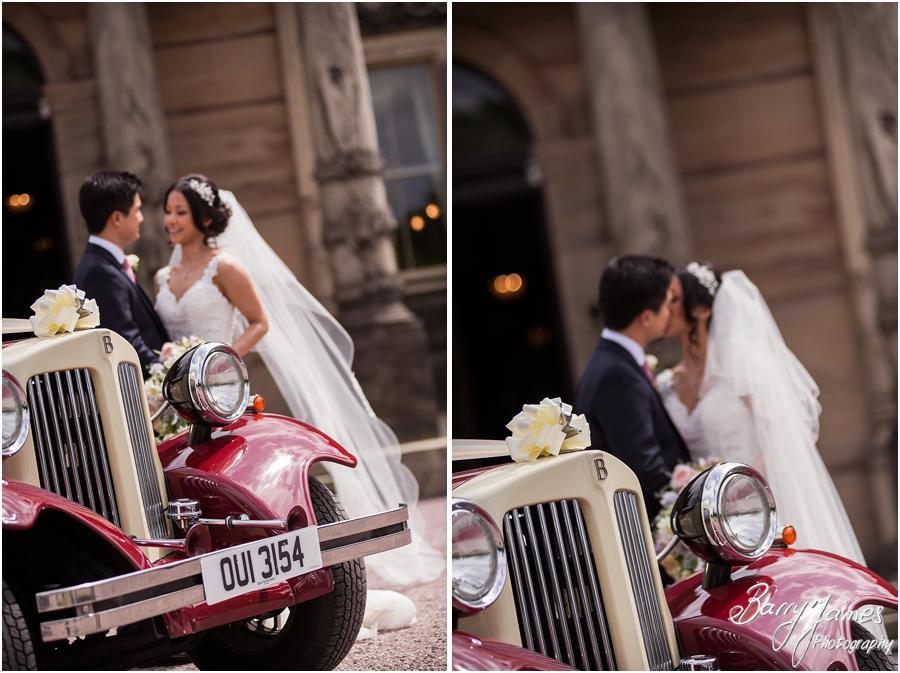 Stunning wedding car transport at Sandon Hall in Stafford by Stafford Wedding Photographer Barry James