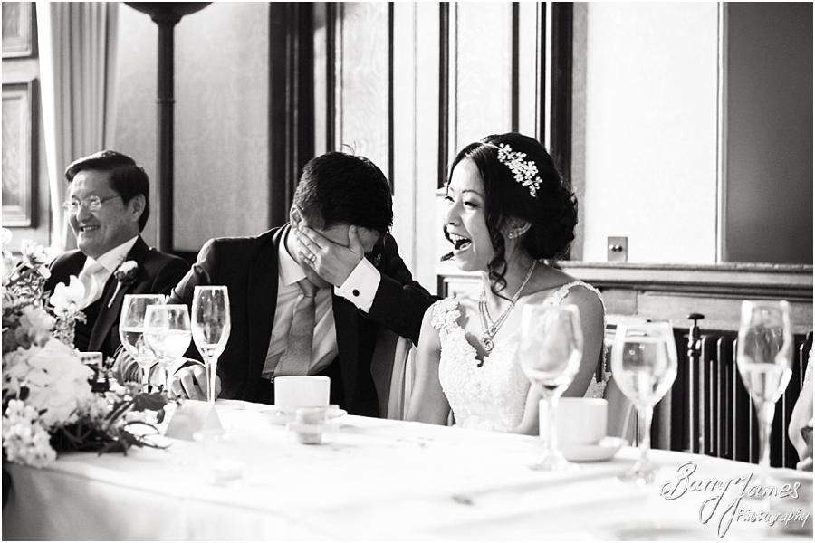 Candid speech photographs at Sandon Hall in Stafford by Stafford Wedding Photographer Barry James