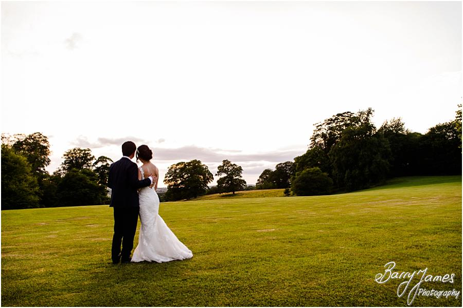 Beautiful evening portraits at Sandon Hall in Stafford by Stafford Wedding Photographer Barry James