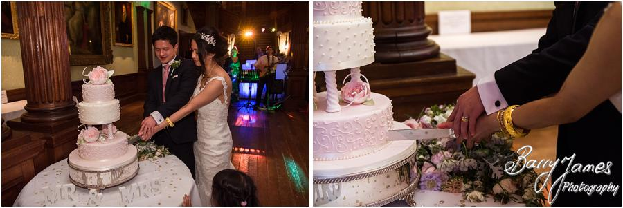 Cake cutting at Sandon Hall in Stafford by Stafford Wedding Photographer Barry James