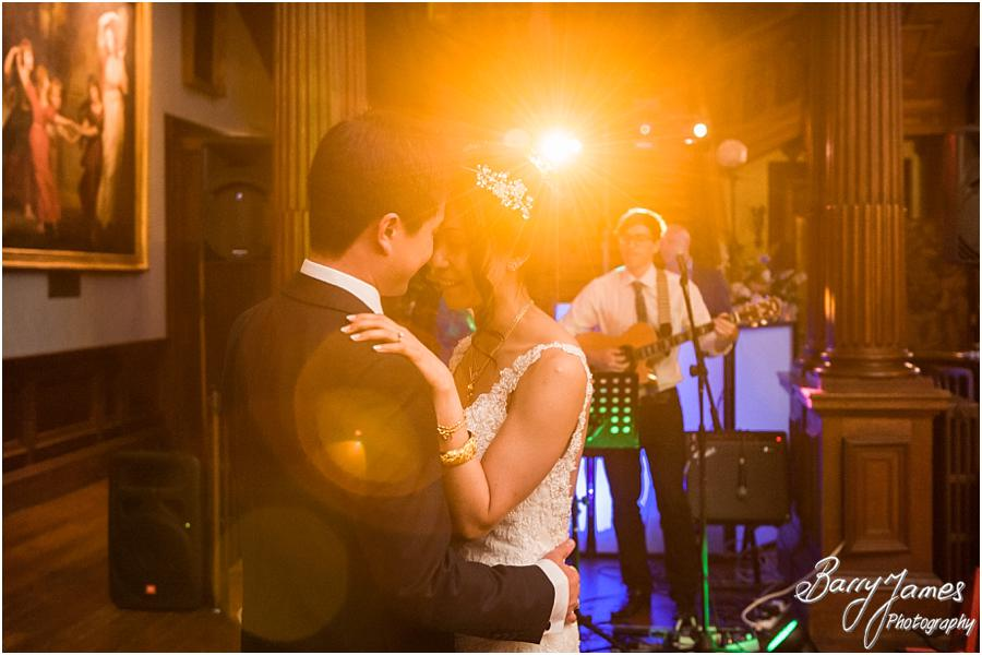 Fabulous evening photographs of the dancing and party at Sandon Hall in Stafford by Stafford Wedding Photographer Barry James