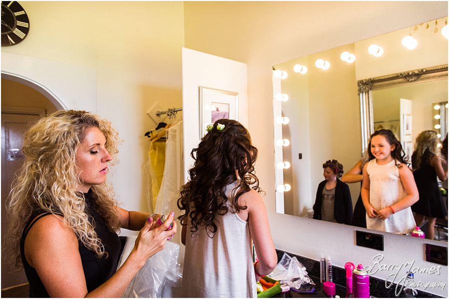 Natural photographs of the bridal preparations at The Upper House in Barlaston by Stafford Wedding Photographer Barry James