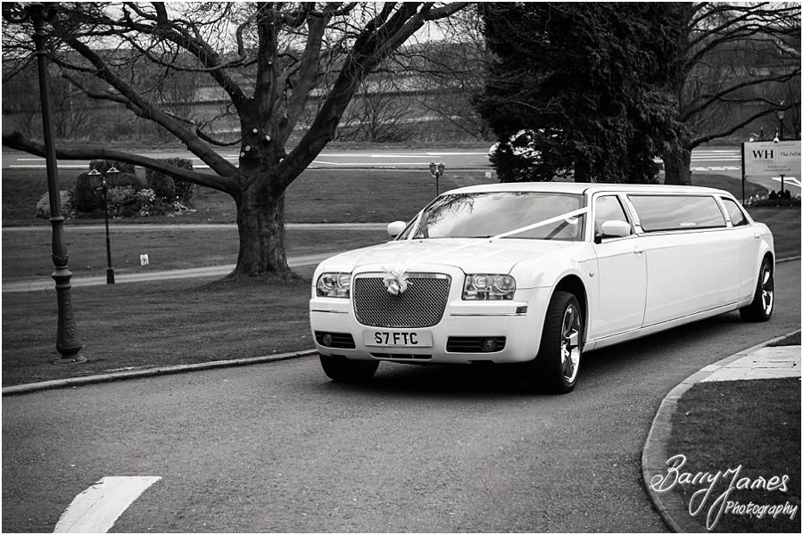 Beautiful bridal transport at Weston Hall in Stafford by Stafford Wedding Photographer Barry James