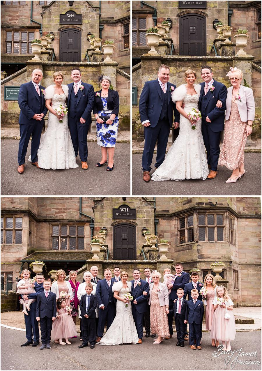 Relaxed family group photographs at Weston Hall in Stafford by Stafford Wedding Photographer Barry James