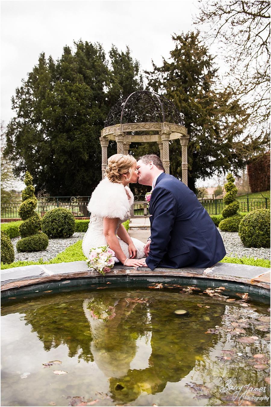 Natural contemporary portraits utilising the beautiful setting at Weston Hall in Stafford by Stafford Wedding Photographer Barry James