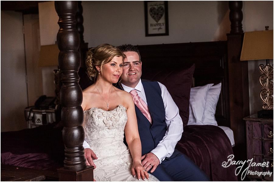 Traditional portraits in the bridal suite at Weston Hall in Stafford by Stafford Wedding Photographer Barry James