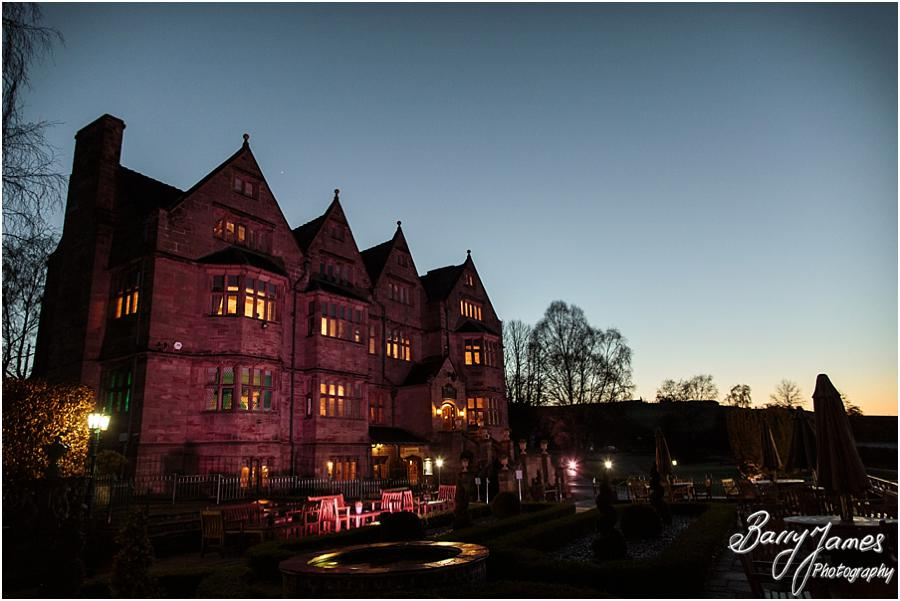 Night at Weston Hall in Stafford by Stafford Wedding Photographer Barry James
