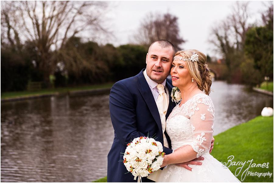 Beautiful day for a winter wedding at The Moat House in Acton Trussell by Stafford Wedding Photographer Barry James