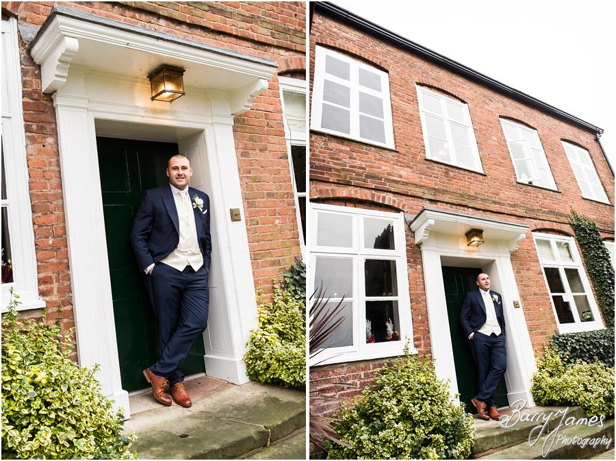 Contemporary photos of groomsmen at The Moat House in Acton Trussell by Stafford Wedding Photographer Barry James