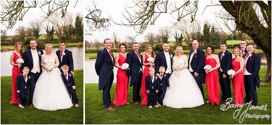 Relaxed family group photographs on the lakeside at The Moat House in Acton Trussell by Stafford Wedding Photographer Barry James