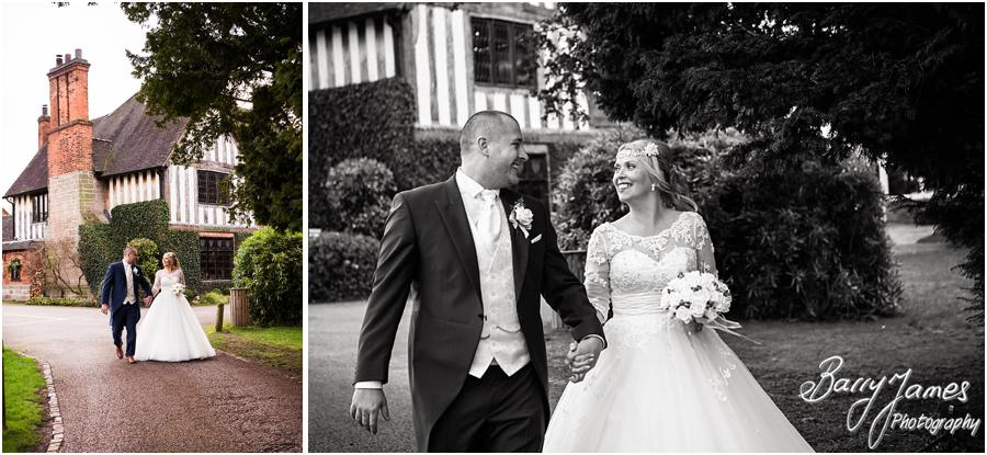 Elegant winter portraits on the lake side at The Moat House in Acton Trussell by Stafford Wedding Photographer Barry James