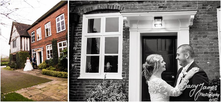 Creative contemporary portraits of the beautiful winter wedding at The Moat House in Acton Trussell by Stafford Wedding Photographer Barry James