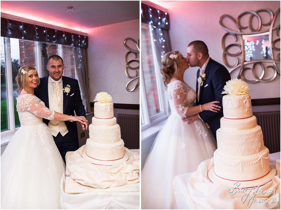 Stunning styling for the winter themed wedding breakfast at The Moat House in Acton Trussell by Stafford Wedding Photographer Barry James
