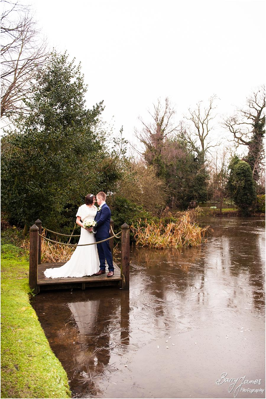 Staffordshire Winter Wedding Photographs at The Moat House Acton Trussell