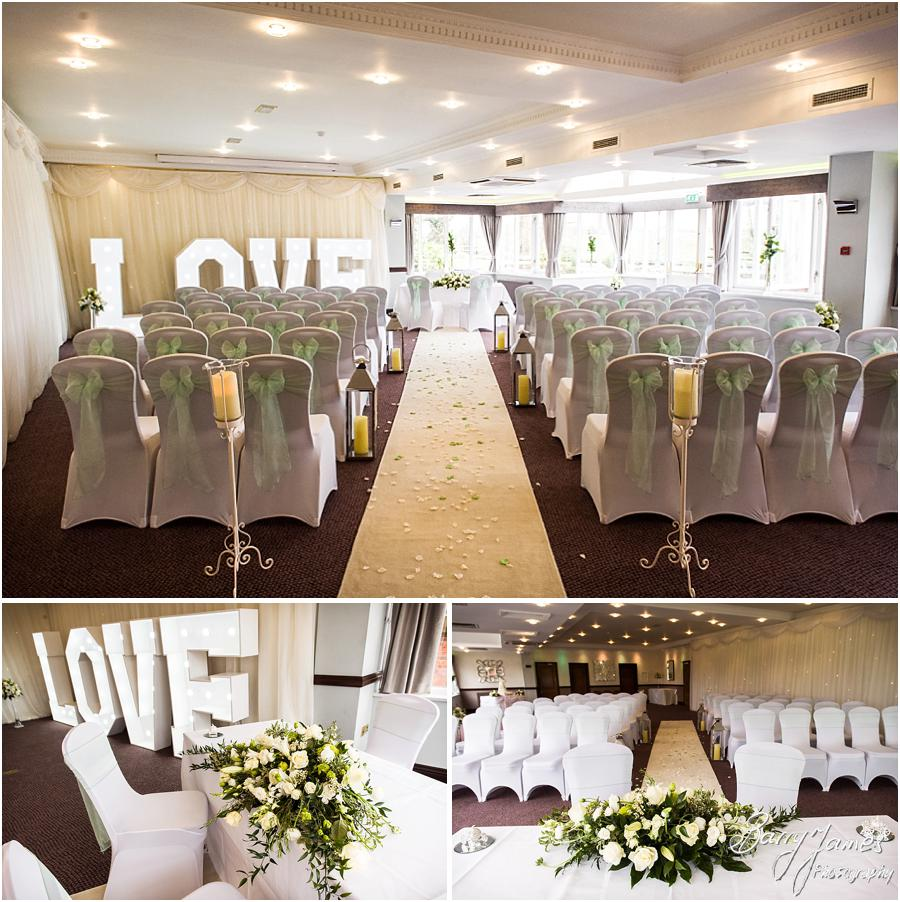 Beautiful styling from Design Elegance making the room at the Moat House look perfect for the wedding