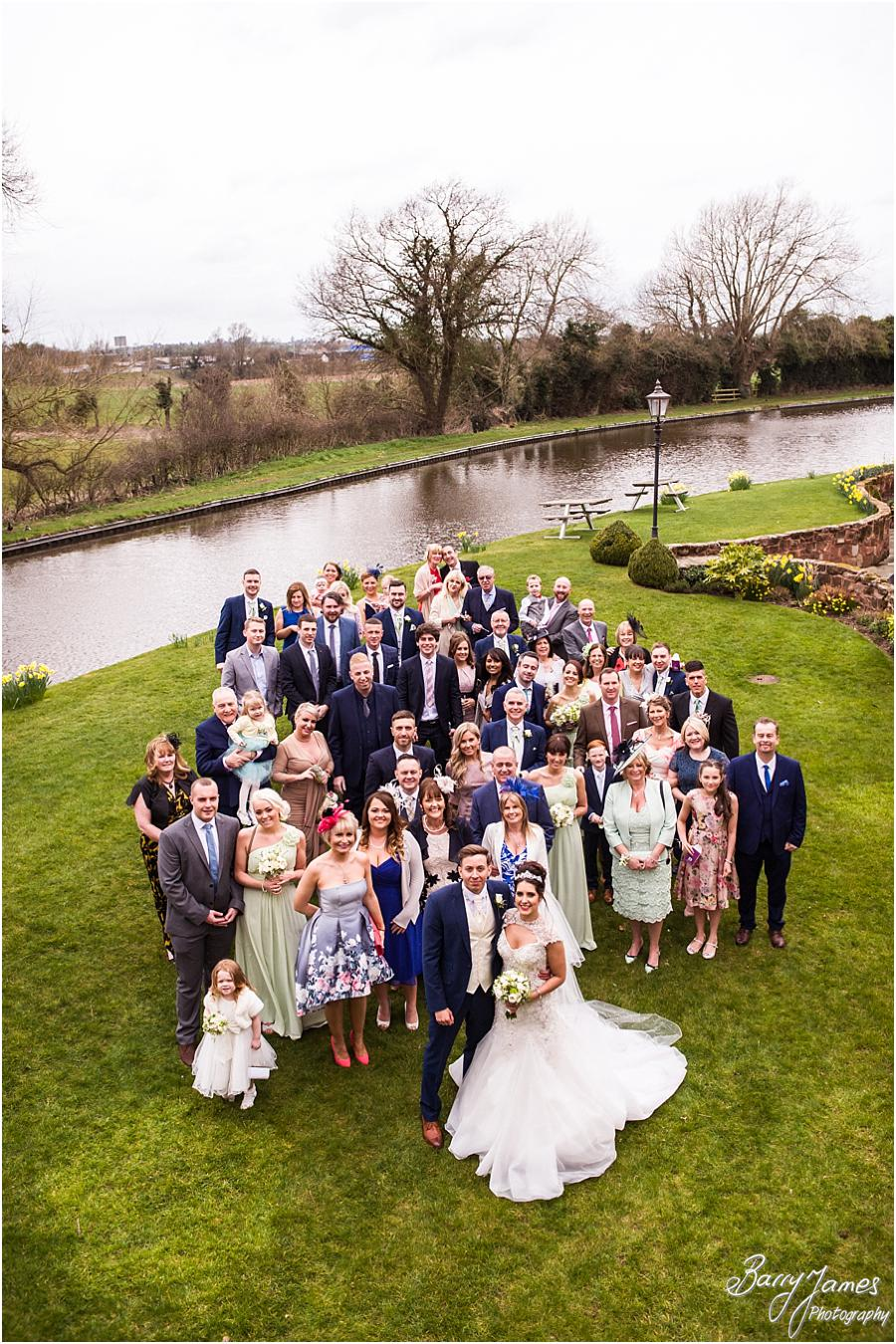 Big group photograph on the canal side