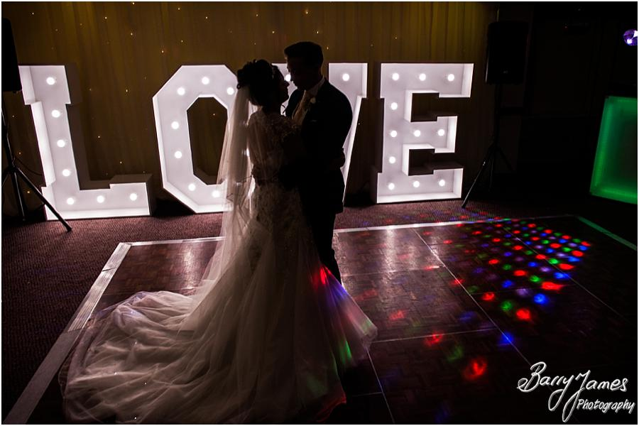 Creative photographs of the beautiful first dance at The Moat House